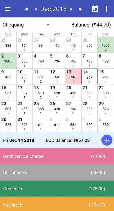 CalendarBudget