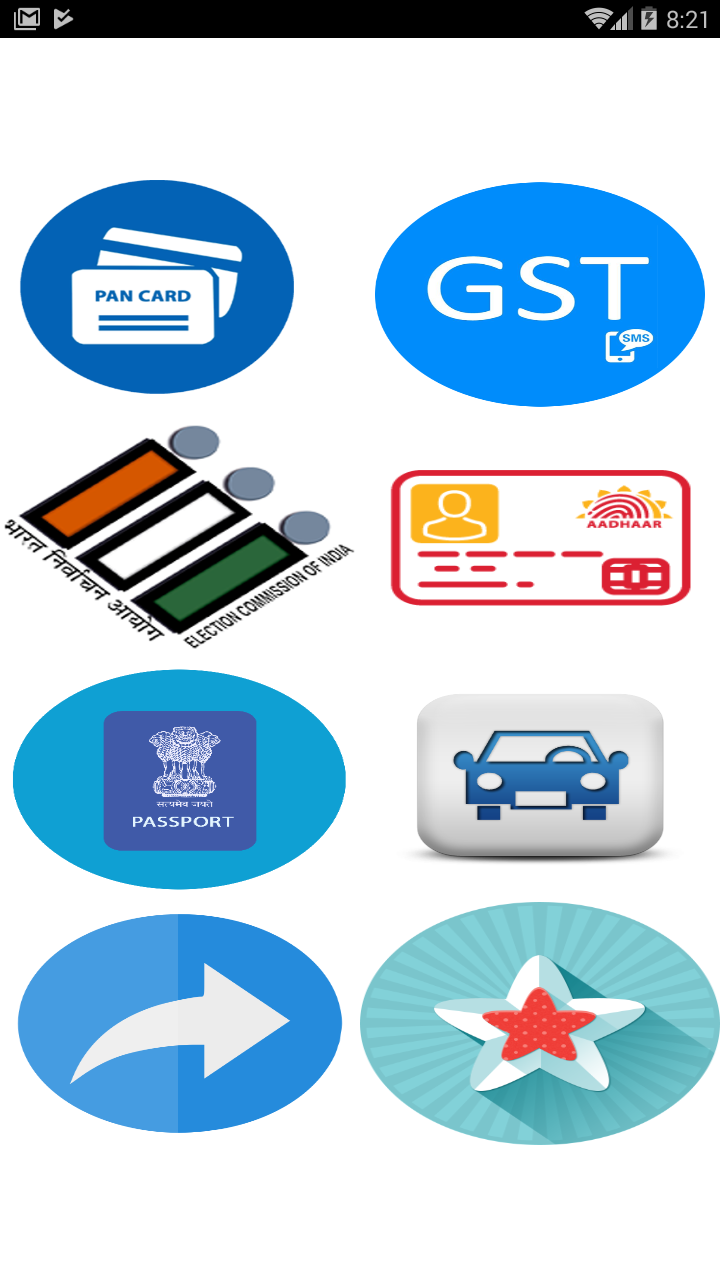 Online pen card,voter card,GST,Eaadher ETC