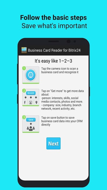 Business Card Reader for Bitrix24 CRM