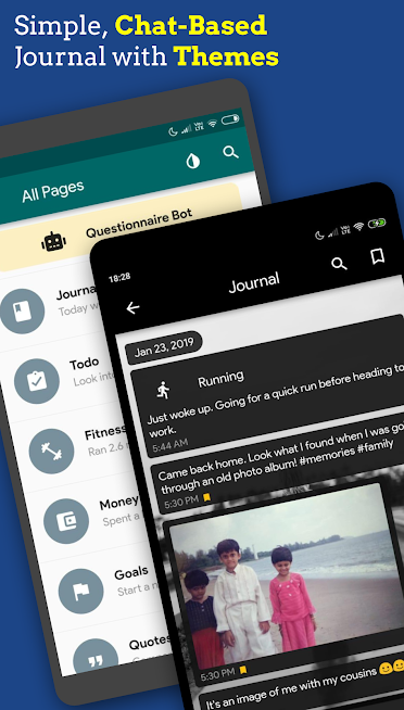 Chat Journal – Timeline Diary with Pin/Fingerprint