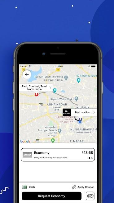 Fetch Taxi App