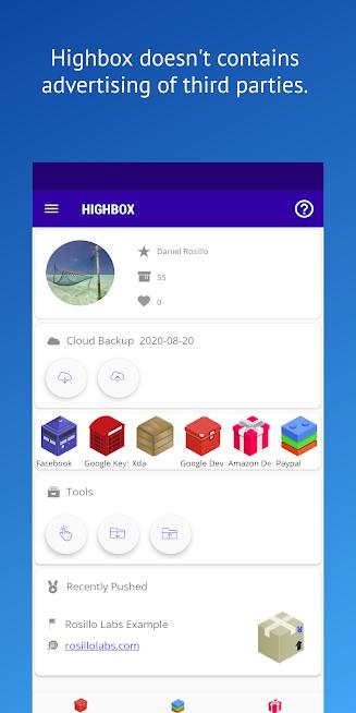 Highbox Password Manager – Passphrases Hash QR