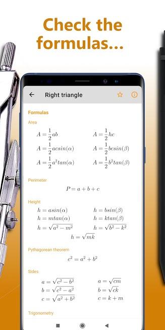 Geometry solver ² lite – homework math calculator