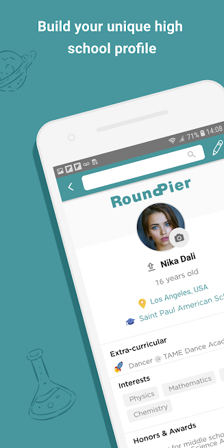RoundPier: High School and College App