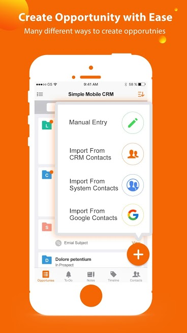 Simple Mobile CRM